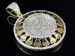 10k yellow gold real diamond crown