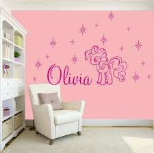 Girls Name Bedroom Wall Art Decal Sticker My Little Pony Friendship Characters My Little Pony Bedroom Wall Stickers Girl Bedroom Pony Bedroom