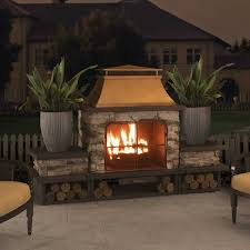 wood burning outdoor fireplace