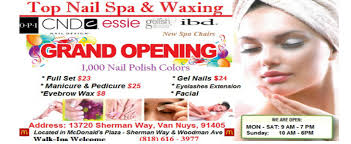 top nail spa waxing