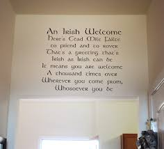 Irish Welcome Wall Decal Trading Phrases