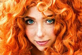 redhead freckles blue eyes make up