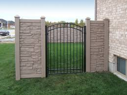 6 Ft High Simtek Ecostone Gate Amco Fencing And Decks Inc