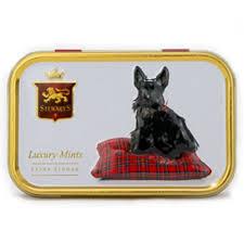 embossed mints in scottie dog tin