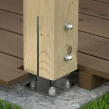 Fence Post Bases Supports Spikes For Sale Ebay