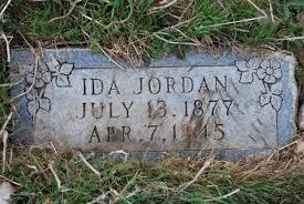Ida Jordan (1877-1945) - Find A Grave Memorial