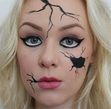 how to do makeup like a broken doll