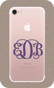 Amazon Com Brandvinyl Monogram Initials For Iphone 7 Iphone 7 Case Monogram Iphone 7 Monogram Iphone 7 Sticker Iphone 7 Plus Decal Phone Monogram Home Kitchen