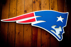 Patriots Custom Logo Wood Wall Art Patriot Wood