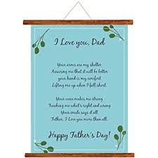 Theyayacafe Fathers Day Greeting Cards Happy Fathers Day I Love Dad Message Scroll Card For Dad Wall Hanging Decor Dad Birthday Gifts 18x24 Inches Amazon In Toys Games