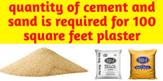 quany of cement and sand is required