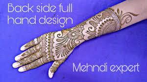 Full Hand Mehndi Designs Easy Back Side