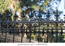 Detail Of Decorative Metal Fence Stock Photos Images Photography Shutterstock
