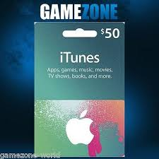 itunes gift card 50 usd usa apple