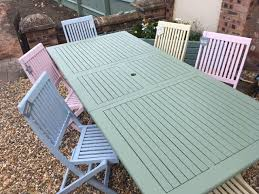 garden furniture with pastel colours
