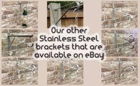 Plant Care Soil Accessories 4 Concrete Fence Post Stainless Steel Hanging Basket Bracket Up To 16 Basket Netpackmdz Com Ar