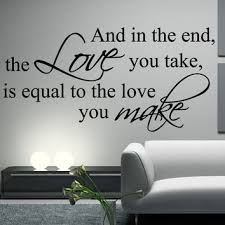 The Beatles Decal Wall Quote And In The From Happy Walls Wall