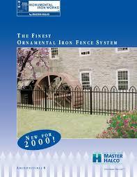 Master Halco Monumental Iron Works Ornamental Iron Fence System