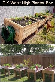 diy waist high planter box building a