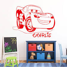 Custom Name Cars 3 Lightning Mcqueen Wall Decal For Nursery Bedroom Baby Wall Decals Vinyl Art Aimsresearch Com Au