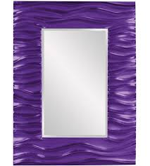 31 inch glossy royal purple wall mirror