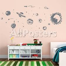 3d Solar System Wall Decal Glow In The Dark Fish Space Fairy Design Target Shark Peel And Stick Nz Vamosrayos