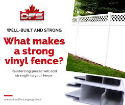 Direct Fencing Supply Shopping For A Strong Vinyl Fence Can Be Difficult So Make Sure That The Bottom Rail Has A Metal Insert In It To Prevent The Fence From Sagging
