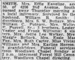 Obituary for Effie SMITH (Aged 50) - Newspapers.com