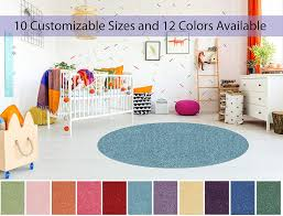 5 Round Soft Colorful And Cozy Children Choice Area Rugs For Bedroom Nursery Classroom Playroom 12 Colors Available Walmart Com Walmart Com