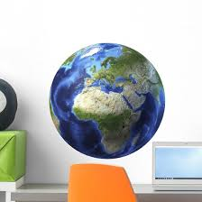 3d Rendering Planet Earth Wall Decal Design 18 Wallmonkeys Com