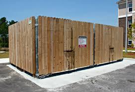 Dumpster Enclosure Gates Fences Seegars Fence Company