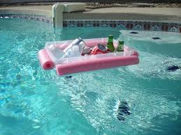 diy pool floating ice bucket cooler