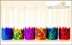 leopard print glitter champagne flutes