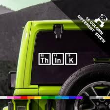 Think Car Decal Chemistry Window Or Bumper Sticker Etsy