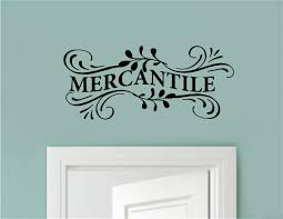 Mercantile Vinyl Decal Wall Stickers Letters Words Country Farm Kitchen Decor