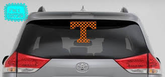 Vinyl Decal University Of Tennessee Checkered Power By Stickerfx Vinyl Decals Vinyl University Of Tennessee