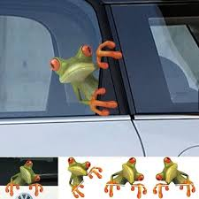 3d Funny Peep Frog Car Stickers Truck Window Decal Graphics Sticker Wish