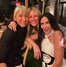 gwyneth paltrow hosted a makeup free party