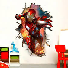 Marvel S The Avengers Iron Man Movie Peel And Stick Giant 3d Wall Decals Red Gold 23 6