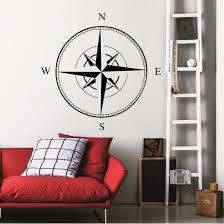 Shop Nautical Compass Wall Art Sticker Decal Overstock 11179511