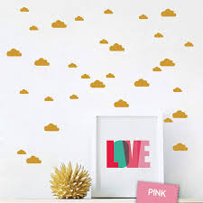 Amazon Com Juekui Set Of 134 Mini Clouds Wall Decal Stickers Gold Black White Cloud Wall Decals Nursery Home Decor Vinyl Pattern Wall For Kids Rooms Ws01 Gold Baby