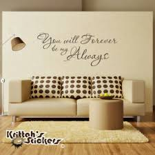 You Will Forever Be My Always Vinyl Wall Decal Quote Home Love Art Decor L176 Ebay