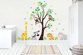 Wall Decals Baby Kids Room Stickers Jungle Baby Decals Reusable Nurserydecals4you