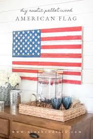 diy rustic pallet wood american flag