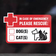 Dog And Cats Inside Please Rescue Pets In Case Of Emergency Window Sticker Decal Car Stickers Aliexpress
