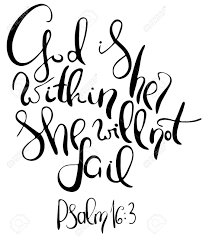 god is in her she will not fail inspirational and