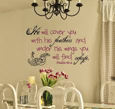 Under His Wings Psalm 91 4 Scripture Wall Decor Scripture Wall Decor Scripture Wall Decal Scripture Wall Vinyl