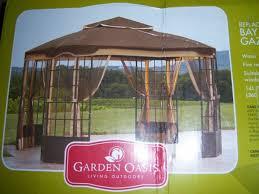 garden oasis privacy gazebo 45846 for