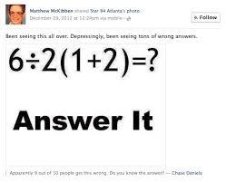 stupid math problem on facebook