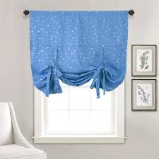 Amazon Com Kids Room Blackout Valance Curtains Star Blue Tie Up Shades Room Darkening Balloon Thermal Insulated Rod Pocket Window Valances Drapes And Curtains For Small Kitchen Nursery Room Windows 32 W X 47 L
